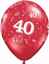 Red 40 Balloons - 11 Inch Balloons 25pcs